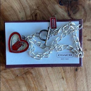 Coach Women's Double Strand Silver Toggle Bracelet